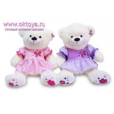 Медведица в платье с бабочкой - музыкальная игрушка