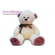 Медведь с коричневыми пятками и бантом с сердечками