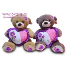 Медведь с фиолетовыми пятками и сердцем - музыкальная игрушка