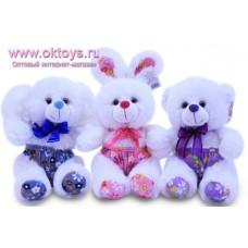 Коала, медведь и зайка в цветных шортиках - музыкальная игрушка
