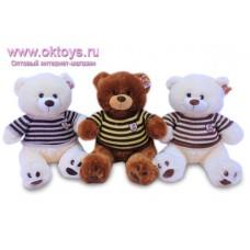 Медведь в полосатом свитере - музыкальная игрушка