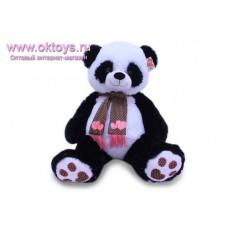 Панда в шарфе с сердечками - музыкальная игрушка