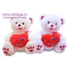 Медведь c меховым сердечком *I Love You*