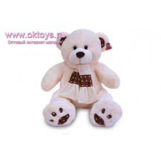 Медведь в шарфе с коричневой полоской