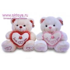 Медведь с сердечками на пятках