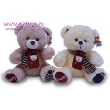 Медведь в шарфе с аппликацией