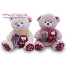 Медведь с сердцем из лоскутов - музыкальная игрушка