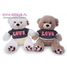 Медведь в футболке с надписью *LOVE* - музыкальная игрушка
