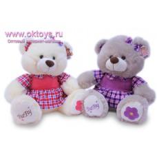 Медведица в клетчатом платье - музыкальная игрушка