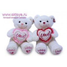 Белый медведь с сердечком *Love*