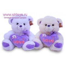 Медведь с сиреневым сердечком
