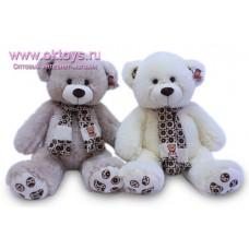 Медведь в шарфе с орнаментом