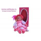 Кукла в розовом платье и шляпке в коробке