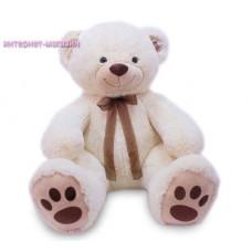 Белый медведь с коричневым бантом