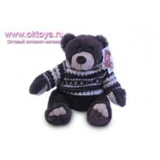 Бурый медведь Семен в коричневом свитере
