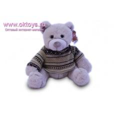 Бежевый медведь Семен в свитере