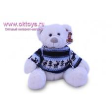 Белый медведь Семен в свитере с оленями