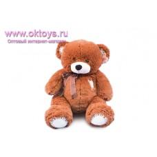 Медведь коричневый с заплаткой - музыкальная игрушка