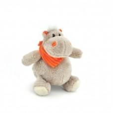 Бегемот Мотя в оранжевом шарфе