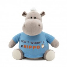 "Бегемот в футболке ""BE HIPPO"""